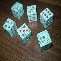turquoise dice,semi precious stone dice,american style dice,stone dice-sgjgems.com