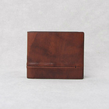 Brown premium business men's bifold wallets leather