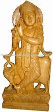 Madera estatuas de buda / talla de madera figuras / arte Sculpture-C