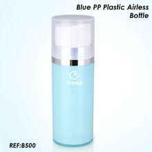สีฟ้าพลาสติกppขวดaielessและบรรจุภัณฑ์