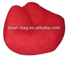 Child Plush Red Hot Lip Bean bag Chair