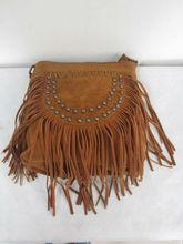 Fashion Punk Style Suede Bag Brown Fringed Tassel Bag