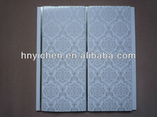 common printing plastic ceiling panels(middle groove,decorated with two shining silver lines )