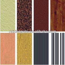 wooden grain/marble coating aluminum sheet