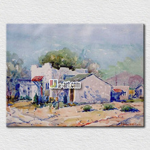 Canvas oil picture natural village painting on canvas