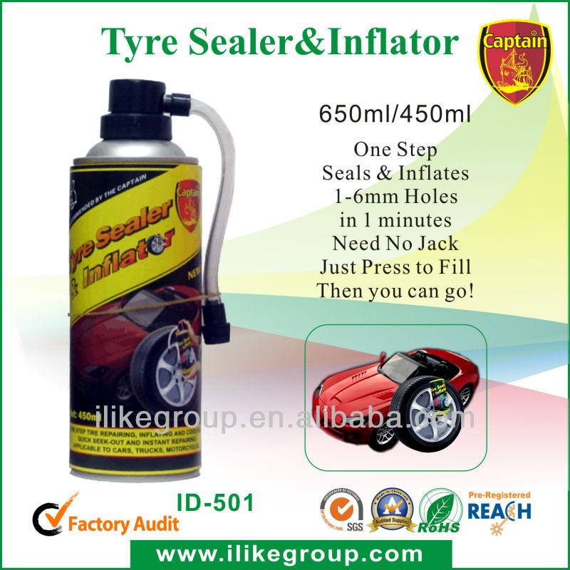 Tire Sealer and inflator for sedan