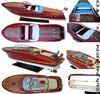 Classic Super Riva Ariston Speedboat - WOODEN MODEL