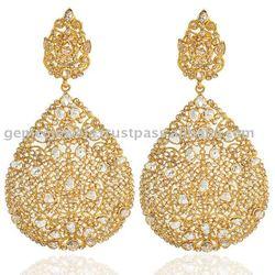 Yellow gold bezel set rose cut diamond wedding Gemco Designs Jewelry