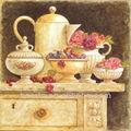 ทำด้วยมือ100%ภาพวาดศิลปะสมัยใหม่ดอกไม้และผลไม้