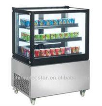 Table Top Freezer/ countertop freezer/ back glass door showcase for ice cream and beverage