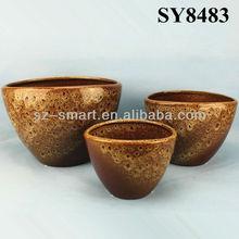 Ceramic glazed fancy garden flower pot