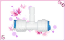 water filter connect/quick fitting stem/ping in tee adapter