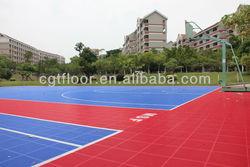 2013 Hot Sale Popular High quality modular tile Suspended Outdoor PP Interlocking Sports floor tiles Basketball Flooring