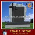 La naturaleza de suministro de granito negro de shanxi monumento lápida cruz/canada lápida diseño/para lápida del cementerio