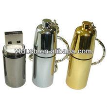 Custom logo metal bottle USB flash drive,bottle shaped USB stick