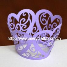 new style! heart flower purple wedding cupcake wrapper purple wedding decorations