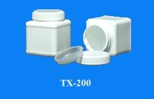 200 ml. square hdpe plastic jar