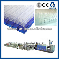 GREENHOUSE MULTIWALL U.V. PROTECTED PC POLYCARBONATE HOLLOW SHEET EXTRUSION LINE