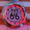double ring neon clock