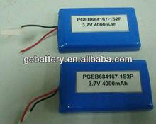 battery rechargeable battery 7.4v 4000mah/li ion polymer battery 7.4v 4000 mAh 684167 for/3.7v 4000mahlithium polymer battery