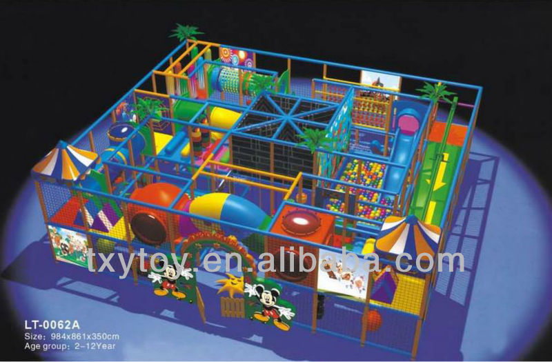 HOT SELL! CE certificated children indoor playground LT-0062A