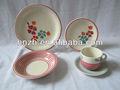 mode blumen design 20 stück keramik handbemalt partei geschirr für die partei und faimly verwenden