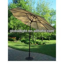 Aluminum Outdoor Patio Umbrella with Crank and Tilt