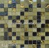 DIY resin mixed glass mosaic tile