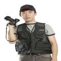 Negro adecuado para hacer turismo/pesca/la fotografía de malla volar chaleco de la pesca