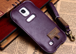 cell phone case For saumsung Galaxy S4 I9500 Lady Girl Case Pouch Purse shoulder bag with Lanyard