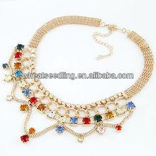 Glitter Rhinestone Custume Statment Necklace 08092488