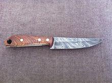 Handmade Custom Damascus Steel Hunting Knife = 733