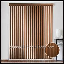 tilo 89mm aluminiumheadrail listones con 25mm guardamalleta de madera madera persianas verticales