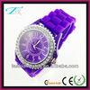 2013 fashional silicone watch geneva gift quartz movement sl68 diamond rhinestone case