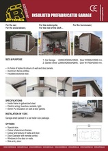 PREFABRICATED FLATPACKED MOBILE GARAGE