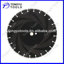 Laser welded diamond saw blade for marble