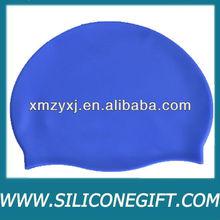 2013 fashion colors printed silicone swimming caps, promotion swim cap, kids swim cap