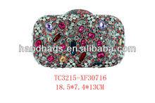 Crystal ladies fashion bags crystal carved ladies evening bags