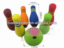 20cm height foam bowling ball toy sets