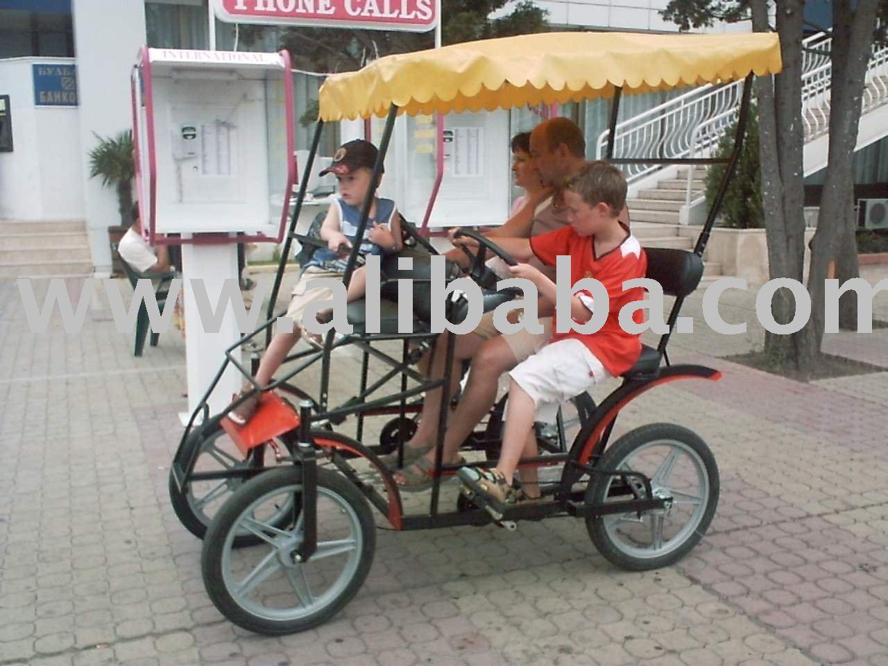 High quality 2-Person four wheel Surrey bike