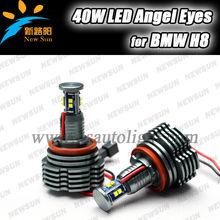 NEW REAL 40W! E63 E64 M6 X5 X6 E70 E71 C REE LED WHITE ANGEL EYE HALO LIGHT BULBS for BMW H8