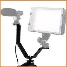 YA425 Triple Mount Flash Hot Shoe V Mount Bracket for Video Light Microphones Monitors