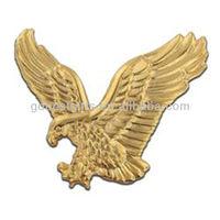 3D Eagle Gold Antique lapel pins badges for promotional item