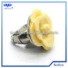 Fashion plastic rings jewelry epoxy resin jewelry
