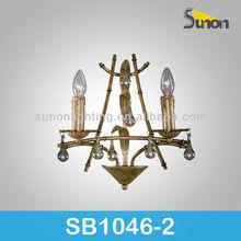 European style two lights SB1046/2 crystal steel outdoor wall lamp