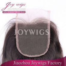 100 % Virgin Indian human hair lace closure piece hot sale silk top closure hair