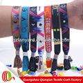 promoción de colores de encargo pulseras tejidas a mano