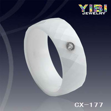 cubic zirconia superstar accessories Beautiful Love Letter Ceramic Ring white