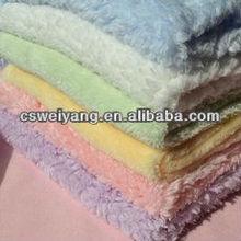 Shining Striper Rib Coral fleece blanket fabric