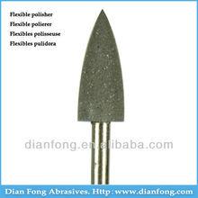 "A203C 3/32"" HP Shank Bullet Shaped Black Flex Rubber Polishers Denture Cleaner"